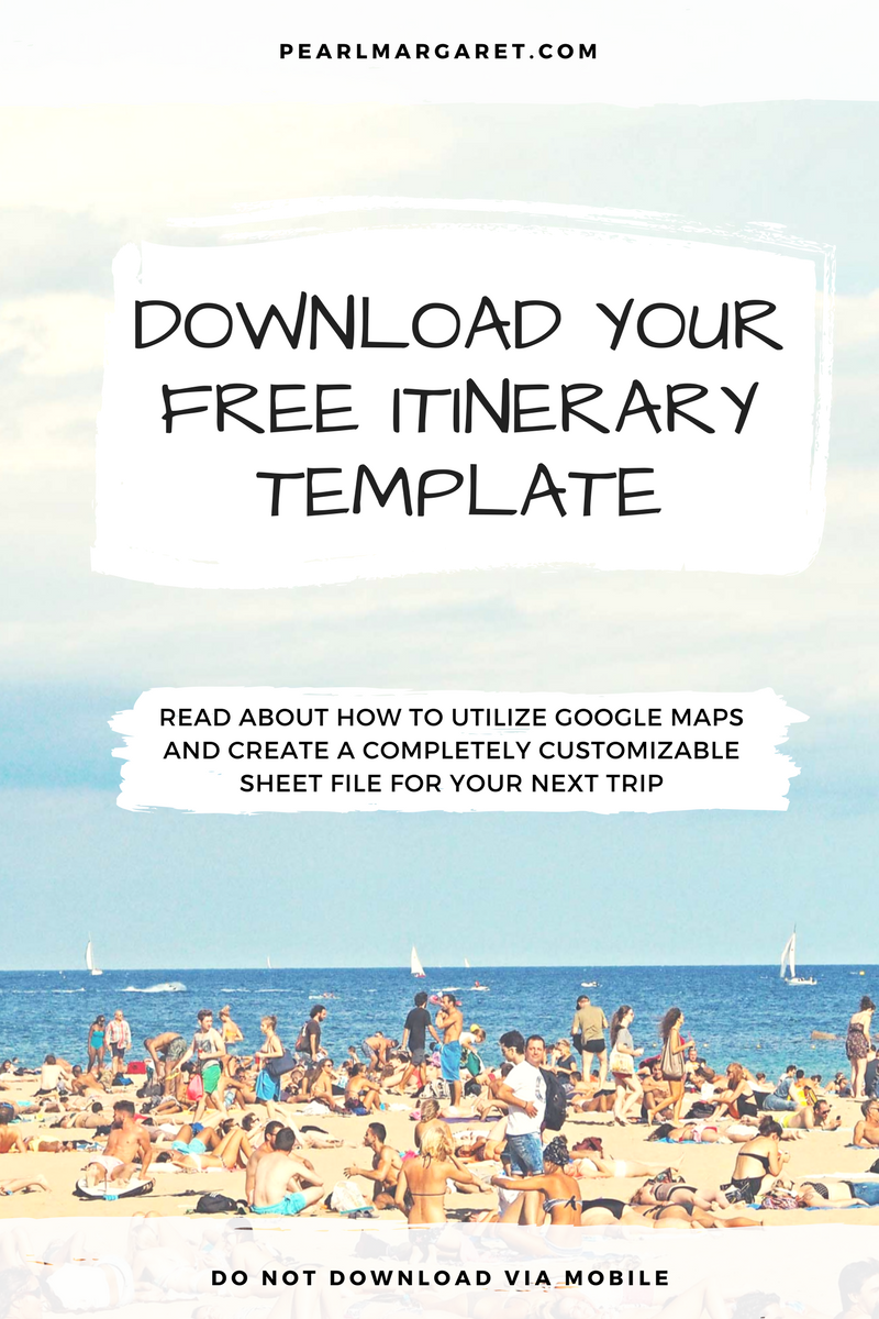 Download Itinerary Template - PearlMargaret.com