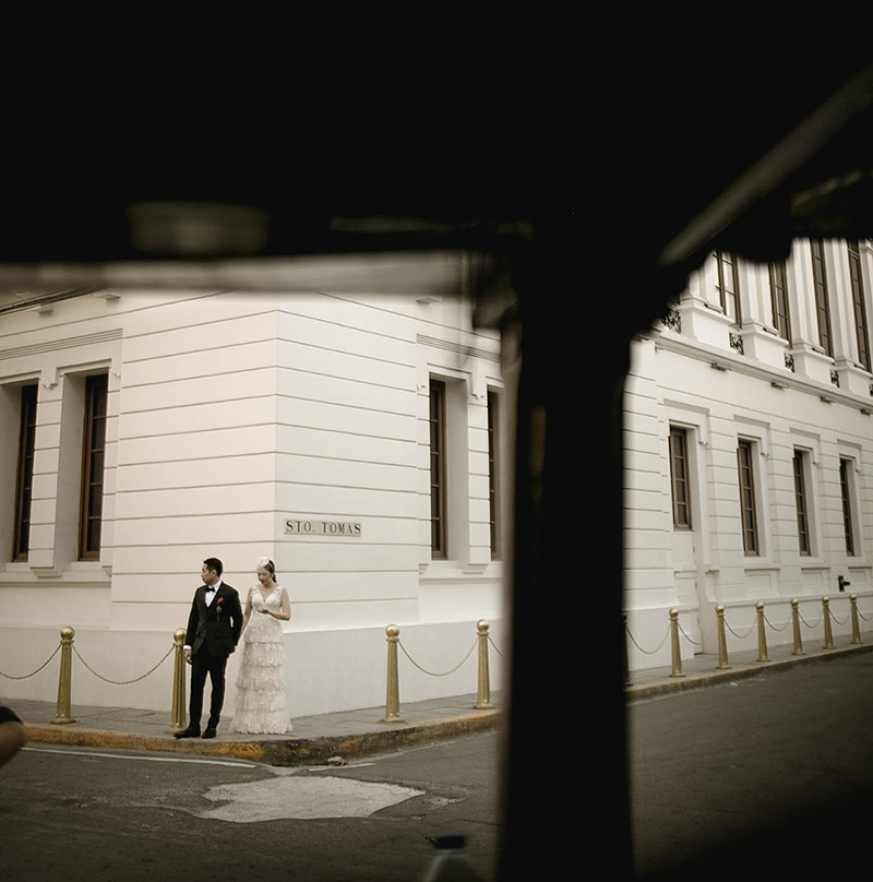 The Streets of Intramuros on our Wedding Day